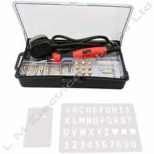 22PC 30W wood burning pen kit soudure pyrogravure kit laiton outils tips & boîte