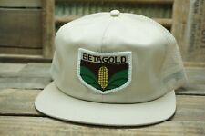 Vintage BETAGOLD SEED Mesh Snapback Trucker Cap Hat Patch K PRODUCTS Made In USA