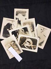 Lot X7 Vtg Original 1940's Snapshot WW2 Era Risque Nude Girl Amateur Photo
