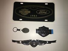 HARLEY-DAVIDSON MOTORCYCLES FORD F-150 LICENSE PLATE EMBLEM KEYCHAIN LOT