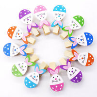 DIY Crafts Photo Pegs Cartoon Egg Rabbit Easter Decorations Wooden Clips