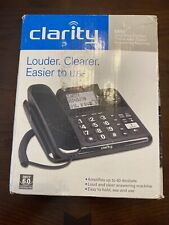 Clarity E814 Corded Home Telephone 40dB Caller ID/Answering Machine Black
