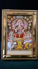 Goddess Laxmi, Saraswati and Lord Ganesha Photo Frame For Diwali