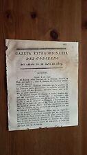 Gazeta Extraordinaria del Gobierno del Sábado 20 de Mayo 1809 Asturias Nogales..