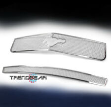2005-2009 FORD MUSTANG V6 UPPER+BUMPER STAINLESS STEEL MESH GRILLE INSERT CHROME