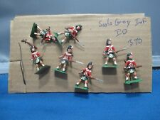 An officer and six Other Ranks Scots Grey Inf Napolonic era by Little lead soldi