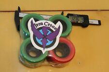IRON CROSS Green Red Lightweight 80's 61mm W1 Vintage Set of 4 SKATEBOARD WHEELS
