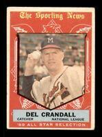 1959 Topps Set Break # 567 Del Crandall All Star VG *OBGcards*