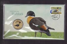 2013 Australia $1 Shelduck Duck Bird Coin Stamp Set PNC FDC