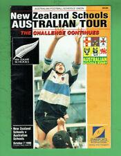 #Kk. Rugby Union Program - 7/10 1998, New Zealand V Australian Schools