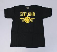 Benny Gold Men's Short Sleeve Crew Neck Nevermind T-Shirt CD4 Black Large NWT