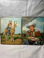 Lot Of 2 Vtg 1950 ROHR PUZZLES ROY ROGERS K4
