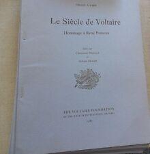 TRAGIQUE VOLTAIRE ALAIN NIDERST tirage à part 1987 Voltaire foundation OXFORD