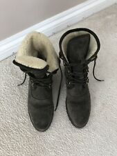 Russell & Bromley Huggy  Khaki Boots UK Size 5 Fab Condition £225