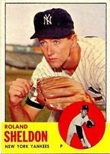 1963 TOPPS ROLAND SHELDON SP HIGH # NY YANKEES #507 NRMT SHARP CENERED