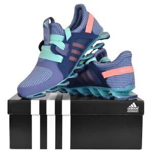 Adidas Springblade Zapatillas de Correr Sport Zapato Mujer Niños Púrpura Azul
