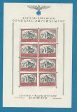 WWII German occupation of Poland  No. 125  cpl.  sheet   MNH **   !!