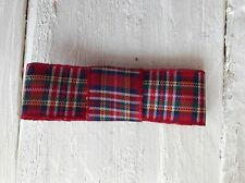 Tartan red Bow Hair Clip Back to School Uniform Burns Night