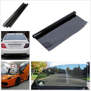 50cm x 3m Black Car Side Window Glass Anti Scratch Anti-UV Tint Film Fitting Kit