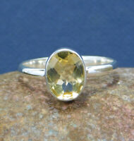 Natural Citrine Ring 925 Sterling Silver Minimalist handmade Jewelry MR1941