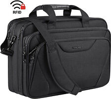 Premium Laptop Bag Briefcase Computer Bag for Travel Business School - Size 17in