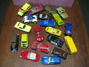 BULK LOT  OF 20 MATCHBOX, SOME OLD AND NEW,DODGE, PORSCHE, PLYMOUTH,MINI,+  1:64