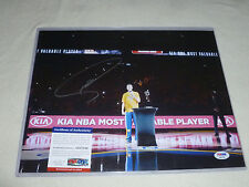 SIGNED STEPHEN CURRY MVP PHOTO & PICTURE AUTOGRAPHED PSA COA AUTO WARRIORS NBA >