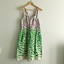 07eee8dd596 Anthropologie MAEVE Tie Back Sleeveless Dress Floral Lined 100% Cotton  Womens 2