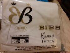 Double fitted bottom sheet. Bibb Kennesaw.NIP. White.