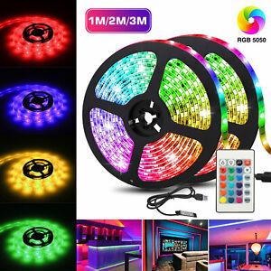 5V USB LED Strip Lights TV Back Light 5050 RGBW Waterproof with 24 Key Remote US