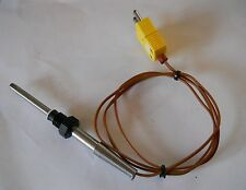"""Omega K Type Transition Joint Thermocouple 5"""" Sensor Probe w/ 3' Wire & Bushing"""