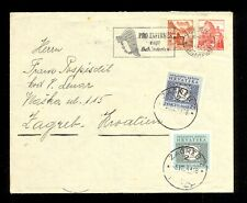 CROATIA (NDH) WWII - LETTER SENT FROM SWITZERLAND TO ZAGREB 06.04.1944. ON ARRIV
