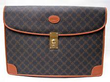 Auth BALLY ITALY Signature Canvas Briefcase Travel Portfolio Bag Organizer NEW
