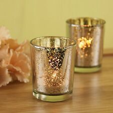 2/6/12pcs Mercury Glass Tea Light Holders Candle Party Christmas Decoration