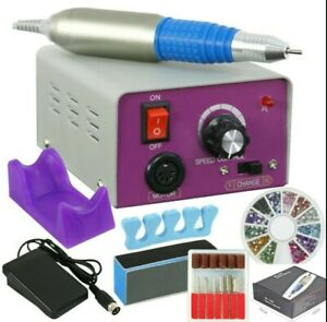 Electric Nail File Drill Manicure Tool Pedicure Machine Set kit Professional New