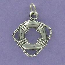 Life Preserver Charm - 925 Sterling Silver - for Bracelet Ship Ocean Cruise Ship