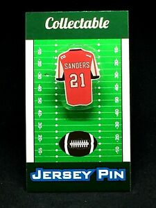 Atlanta Falcons Deion Sanders jersey lapel pin-Classic throwback Collectable