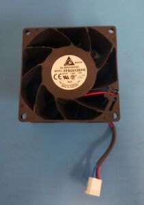 FAN, 80x38 mm, 12VDC, 1.35A, DELTA, FFB0812EHE-F00, Extreme High Airflow, 3 Pin
