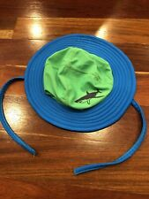 Hanna Andersson Baby Boy Shark Swim Hat With Chin Ties Size XS