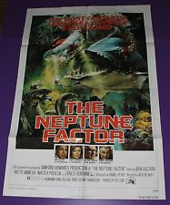 THE NEPTUNE FACTOR MOVIE POSTER ORIGINAL ONE SHEET YVETTE MIMIEUX