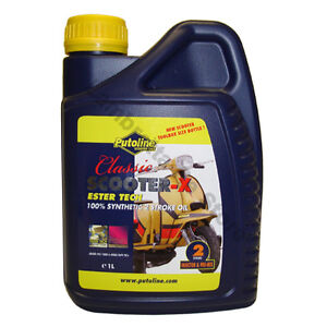 CLASSIC SCOOTER 2 STROKE OIL SCOOTER-X 1 LITRE PUTOLINE new bottle shape