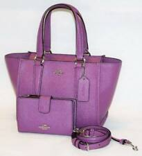 NWT Coach Crosby 21 Mauve Purple Leather Satchel Shoulder Bag Wallet 11925 54010