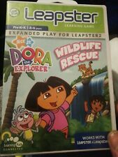 leap frog leapster learning game dora the explorer wildlife rescue