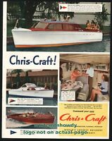 CHRIS CRAFT VINTAGE 1930 STYLE VINYL DECALS THREE SIZES  FOR DUMAS MODEL WOODEN