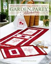House of White Birches Garden Party Stitchery Quilt Patterns Paperback Book New