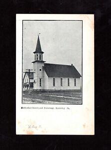 Postcard Roulett Pa Methodist and Parsonage