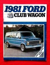 1981 Ford Club Wagon Sales Brochure c