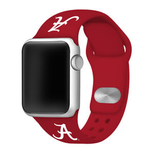 Alabama Crimson Tide Silicone Band Compatible with Apple Watch