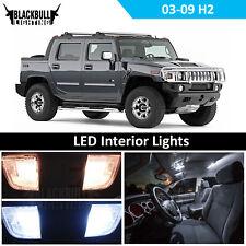 White Interior LED Light Accessories Package Kit for 2003-2009 Hummer H2 15 Bulb