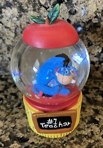 Disney Store Eeyore #1 Teacher Mini Snow Globe New without Box